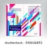 vector annual report brochure... | Shutterstock .eps vector #540636892