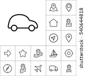 thin line car icon on white... | Shutterstock .eps vector #540644818