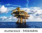 production platform in offshore ... | Shutterstock . vector #540646846