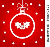 christmas ball decoration with... | Shutterstock .eps vector #540647626