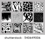 set of creative freehand cards. ... | Shutterstock .eps vector #540649006