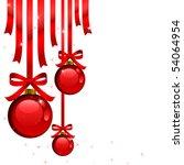 Brilliant illustration of Christmas toys - stock vector