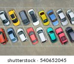 Stock photo empty parking lots aerial view 540652045