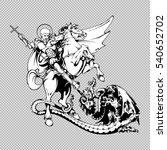 Saint George On Horseback With...