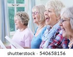 group of senior women singing... | Shutterstock . vector #540658156