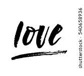 love lettering   Shutterstock .eps vector #540658936