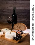 Wine And Cheese Background...