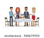 people are drinking wine at... | Shutterstock .eps vector #540679555