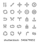 outlined arrows vector icon set | Shutterstock .eps vector #540679852
