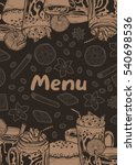 background for menu with a... | Shutterstock .eps vector #540698536
