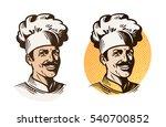 chef  baker  cook symbol.... | Shutterstock .eps vector #540700852