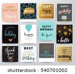 vector happy birthday card | Shutterstock .eps vector #540701002