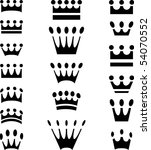 simple crown icons in eighteen...