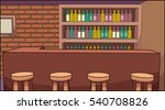 cartoon bar background. vector... | Shutterstock .eps vector #540708826
