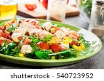 fresh salad with chicken breast ... | Shutterstock . vector #540723952