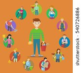 collection of people characters ... | Shutterstock . vector #540726886