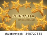 retro stars abstract background ... | Shutterstock .eps vector #540727558