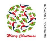 christmas vector illustration... | Shutterstock .eps vector #540729778