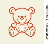 Vector Set Of Bear Icon. Black...