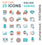 set  line icons in flat design... | Shutterstock . vector #540736846