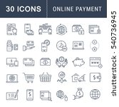 set  line icons in flat design... | Shutterstock . vector #540736945