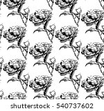 seamless pattern of peony. for... | Shutterstock .eps vector #540737602