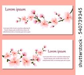 set of cards or invitations... | Shutterstock .eps vector #540739345