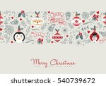 merry christmas illustration... | Shutterstock . vector #540739672