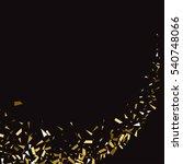 abstract gold glitter splatter... | Shutterstock .eps vector #540748066