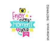 vector poster with phrase ... | Shutterstock .eps vector #540749452