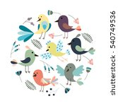 round stylized background with... | Shutterstock .eps vector #540749536