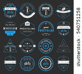 set of badges and logos cycling.... | Shutterstock . vector #540751258