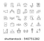 set  line icons with open path... | Shutterstock . vector #540751282