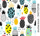hand drawn seamless pattern... | Shutterstock .eps vector #540752938
