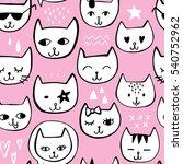 hand drawn seamless pattern...   Shutterstock .eps vector #540752962
