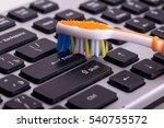 keyboard cleaning | Shutterstock . vector #540755572