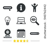 webinar icons. web camera and... | Shutterstock .eps vector #540762442