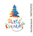 merry christmas card with... | Shutterstock .eps vector #540762922