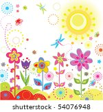 funny greeting card   Shutterstock .eps vector #54076948