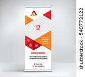 banner roll up design  business ... | Shutterstock .eps vector #540773122