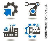 industry 4.0 vector icon set.... | Shutterstock .eps vector #540775816