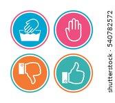 hand icons. like and dislike... | Shutterstock .eps vector #540782572