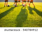 Blurred Soccer Field At School...
