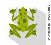 frog icon. flat illustration of ... | Shutterstock .eps vector #540793882