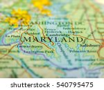 geographic map of us state... | Shutterstock . vector #540795475