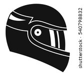 racing helmet icon. simple... | Shutterstock .eps vector #540798832