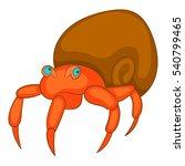 hermit crab icon. cartoon... | Shutterstock .eps vector #540799465