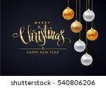 poster for christmas background ... | Shutterstock .eps vector #540806206