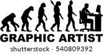 evolution graphic artist  | Shutterstock .eps vector #540809392