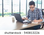 young male businessman writing...   Shutterstock . vector #540813226